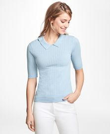 Pointelle Polo Sweater at Brooks Brothers
