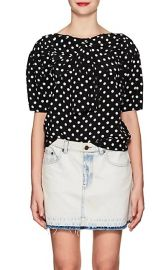 Polka Dot Silk Blouse at Barneys