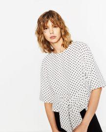 Polka Dot Top at Zara