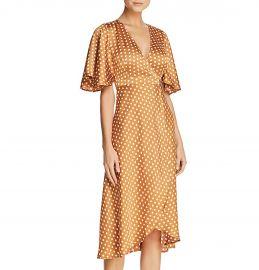 Polka-Dot Wrap Dress at Bloomingdales