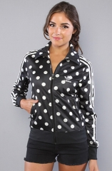 Polka dot Track Top by Adidas at Karma Loop