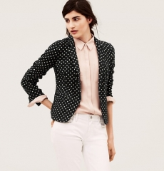 Polka dot blazer at Loft