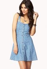 Polka dot chambray dress at Forever 21