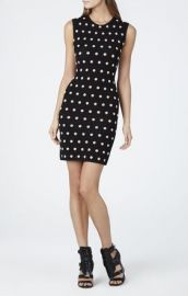 Polka dot dress at Bcbg