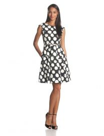 Polka dot dress by Eliza J at Amazon