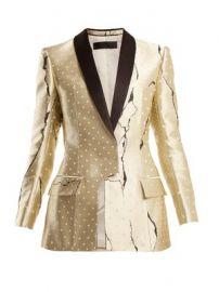 Polka-dot jacquard jacket at Matches