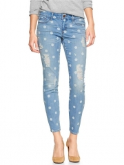 Polka dot jeans at Gap