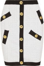 Polka-dot knitted mini skirt at The Outnet