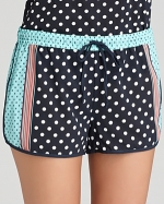 Polka dot pajama shorts by PJ Salvage at Bloomingdales