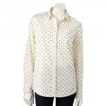 Polka dot shirt by LC Lauren Conrad at Kohls