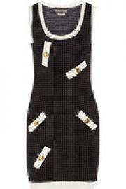 Polka-dot stretch-knit mini dress at The Outnet