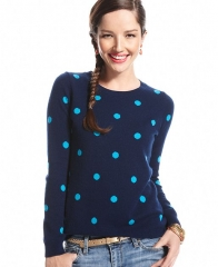 Polka dot sweater by Charter Club at Macys