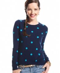 Polka dot sweater by Charter Club at Macys