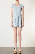 Polka dot tunic dress by Topshop at Nordstrom