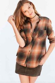 Polly Flannel Shirt orange at Urban Outfitters