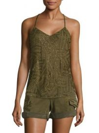 Polo Ralph Lauren - Beaded Y-Back Tank Top at Saks Fifth Avenue