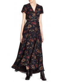 Polo Ralph Lauren - Camron Floral Wrap Silk Dress at Saks Fifth Avenue