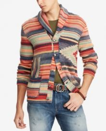 Polo Ralph Lauren Patterned Shawl Cardigan at Macys