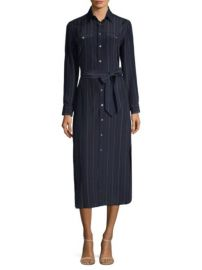 Polo Ralph Lauren Pinstripe Maxi Shirtdress at Saks Fifth Avenue