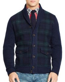Polo Ralph Lauren Tartan Shawl Cardigan at Bloomingdales