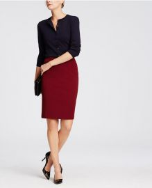 Ponte Pencil skirt at Ann Taylor
