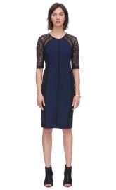 Ponte and Lace Dress at Rebecca Taylor
