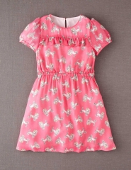 Poodle print ruffle dress at Boden
