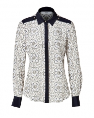 Prabal Gurung Printed Silk Blouse at Stylebop