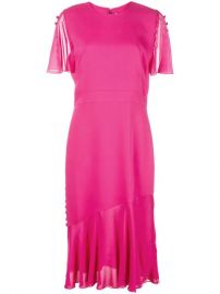 Prabal Gurung Victoria Flutter Sleeve Dress - Farfetch at Farfetch