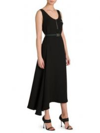 Prada - Asymmetrical Belted Dress at Saks Fifth Avenue