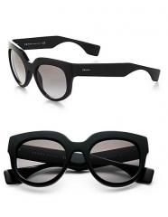 Prada - Oversized Square Sunglasses in black at Saks Fifth Avenue