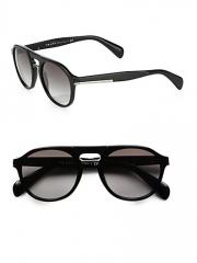 Prada - Plastic Keyhole Sunglasses at Saks Fifth Avenue