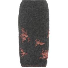 Prada Beaded Angora-Blend Skirt at My Theresa