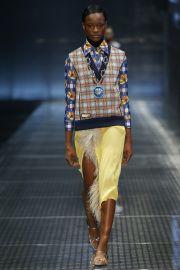 Prada Blue Printed Shirt at Vogue