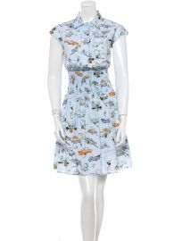 Prada Car Print Shirtdress at The Real Real