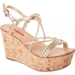 Prada Linea Rossa Cork Wedge Sandal at Barneys