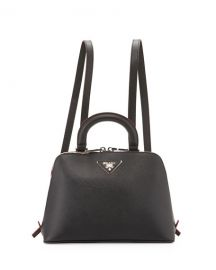 Prada Saffiano Lux Promenade Backpack  Black at Neiman Marcus
