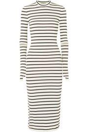 Preen by Thornton Bregazzi   Nikki striped stretch-crepe midi dress at Net A Porter