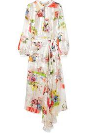 Preen by Thornton Bregazzi   Patel asymmetric floral-print silk-jacquard dress at Net A Porter