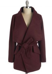 Preferred Pairing Coat in Merlot at ModCloth