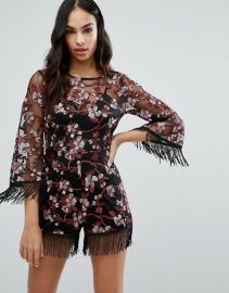 Premium Embroidered Romper by Missguided at Asos