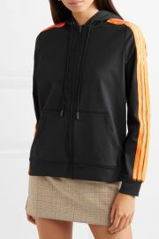 Presbourg mesh-trimmed satin-jersey hooded top at Net A Porter