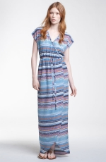 Presley Skye Cap Sleeve Print  Maxi Dress at Nordstrom