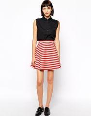Preston Stripe Skirt by Greylin at Asos