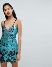 PrettyLittleThing Sequin Cami Dress at asos com at Asos