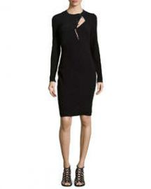 Primea Linea Long-Sleeve Wool-Blend Sheath at Neiman Marcus
