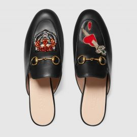 Princetown Slipper with Appliques by Gucci at Gucci