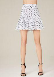 Print Godet Miniskirt at Bebe