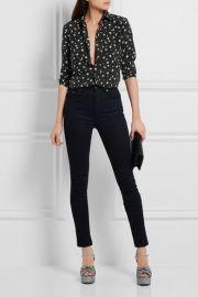 Print Silk Crepe De Chine Shirt by Saint Laurent at Net A Porter