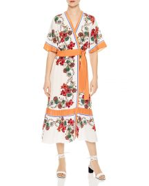 Printed Silk Midi Wrap Dress at Bloomingdales